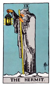The Hermit from The Smith Tarot